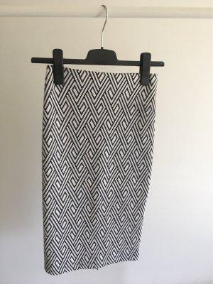 Zara Jupe crayon blanc-noir