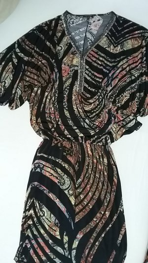Print Kleid Apart Fledermausärmel Größe 34 bunt