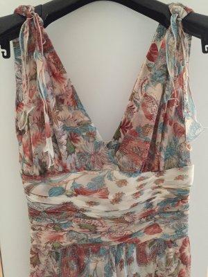 Print-Kleid mit Blumen- und Paisleymuster *Seide*knielang