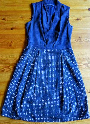 Print-Mix Kleid, dunkelblau, von Esprit