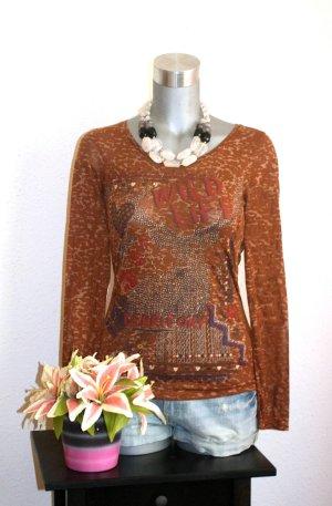 Print Pullover gr. 36 Langarmshirt Edel Design Shirt