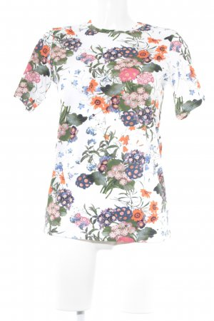 Print-Shirt Blumenmuster Casual-Look