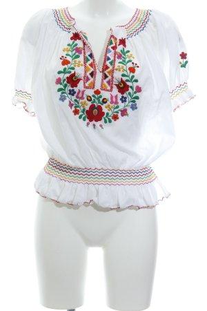 Print-Shirt florales Muster Boho-Look