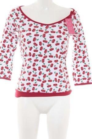 Print-Shirt florales Muster Casual-Look