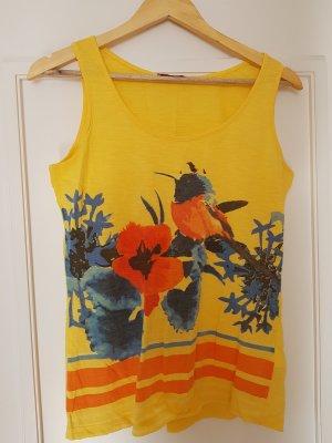 Orsay Shirt met print geel Katoen