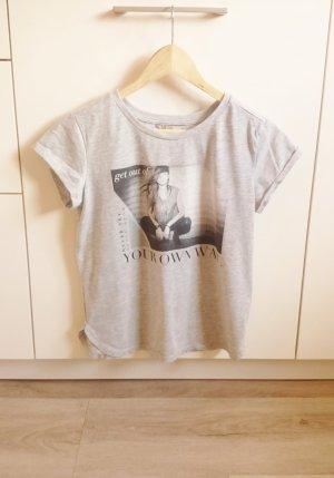 Print Shirt grau Gr. XS