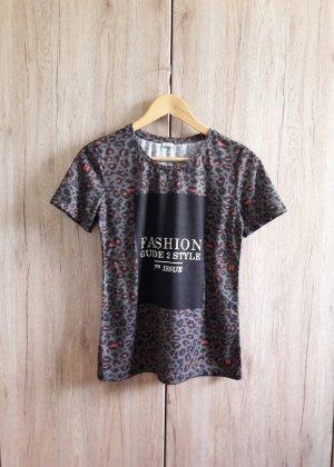 Print Shirt khaki bunt Gr. S