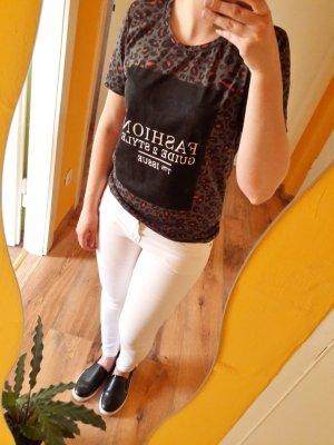 Print Shirt khaki oliv bunt Gr. S