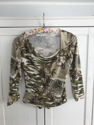Print-Shirt mit Dreiviertelärmeln