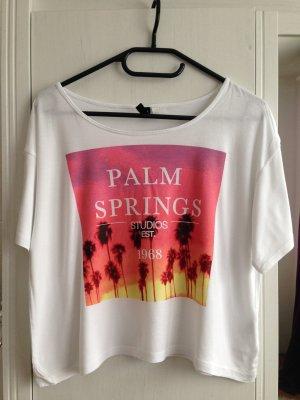 Print Shirt von H&M in weiß