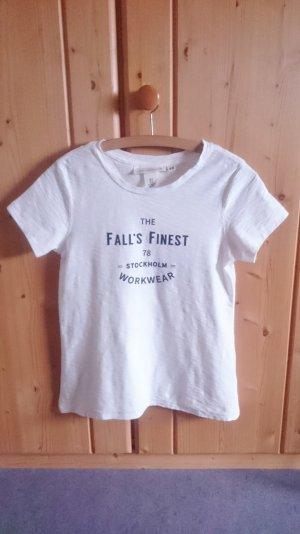 Print Shirt weiß schwarz 34 XS