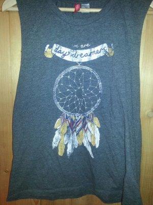 Print Tshirt mit weit ausgeschnittenen Achseln