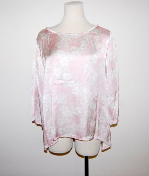Made in Italy Glanzende blouse roségoud-wolwit Viscose
