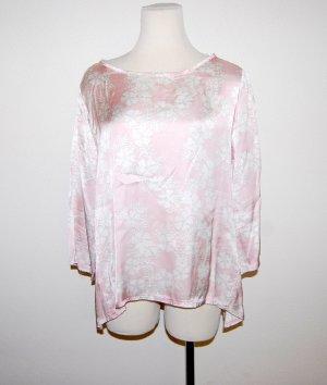 Made in Italy Blusa brillante color oro rosa-bianco sporco Viscosa