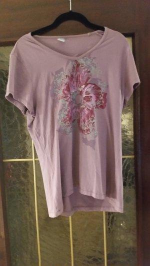 Camicia fantasia grigio-lilla-malva