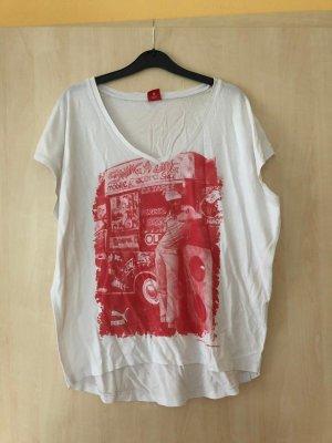 Puma Print Shirt white-red
