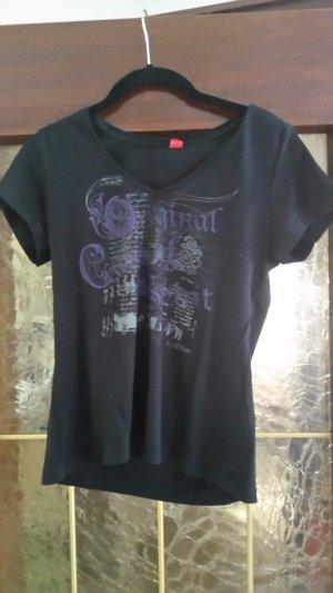 s.Oliver Camiseta estampada negro-lila