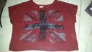 Fishbone Camiseta estampada negro-burdeos