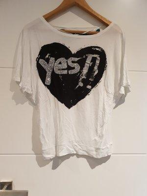 Desigual Camiseta estampada blanco-negro