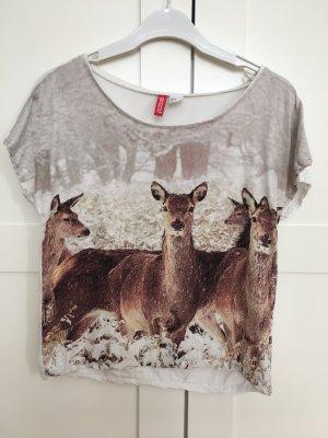 Printshirt mit Rehen