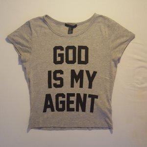 Printshirt mit Slogan von Forever 21, Größe M