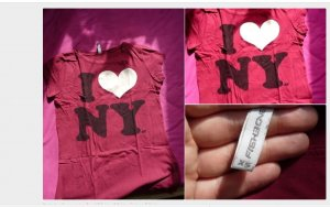 printshirt ny xs i love new york
