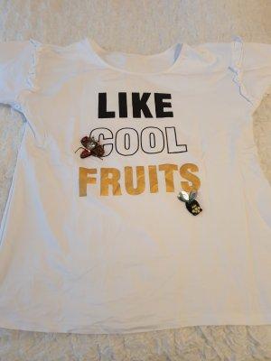 Printshirt Shirt weiß blogger