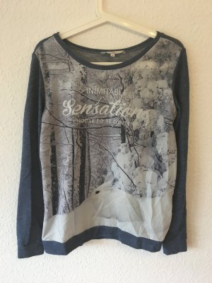Printsweater im Jeanslook