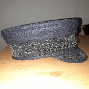 Wollen hoed donkerblauw