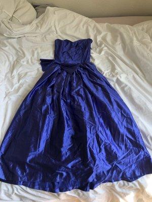 Prinzessin Kleid Ballkleid Disney Kostüm schleife  blau schulterfrei Ball Tüll ausgestellt