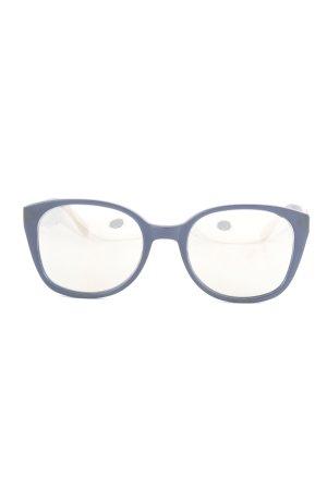 Prism Angular Shaped Sunglasses dark blue-silver-colored