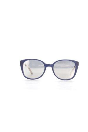 Prism eckige Sonnenbrille dunkelblau-silberfarben
