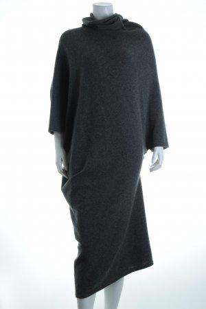 Private Industries Pulloverkleid dunkelgrau extravaganter Stil