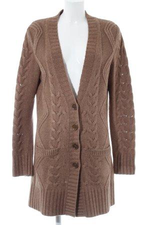 Private Industries Cardigan in maglia marrone soffice