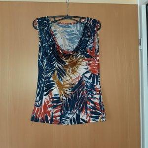 Camisa con cuello caído multicolor Acrílico