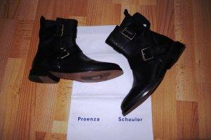 Proenza Schouler Moto Buckle Boots Stiefeletten Gr. 39,5 Leder *neu - rar*