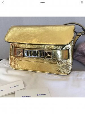 Proenza Schouler PS 11 Mini Bag Gold.