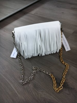 Proenza Schouler small fringe courier mit silber goldener Fransentasche Tasche