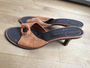 Progetto Sandalo con tacco arancione