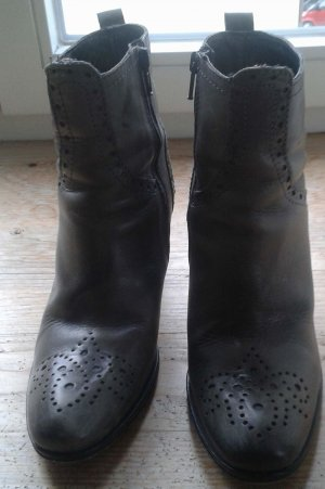 Progetto Booties grey leather