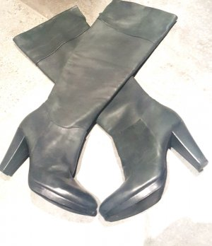 Progetto Overknees anthracite leather