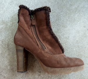 Progetto Platform Booties brown-grey brown