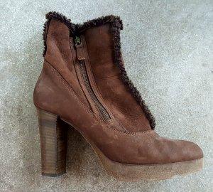 Progetto Platform Booties brown-grey brown