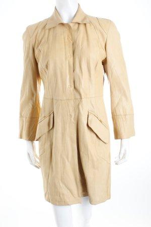Projecta Ledermantel beige Street-Fashion-Look