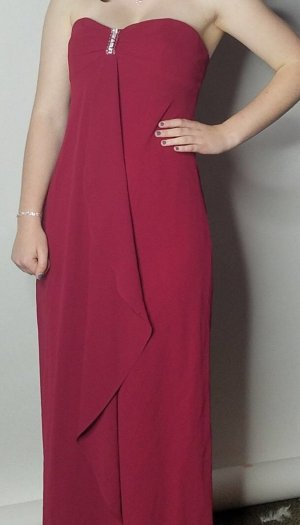 Prom Kleid aus Amerika in Bordeaux rot.