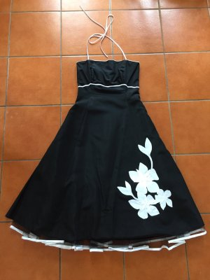 843aab61d34 Sixth Sense Evening Dress white-black polyester