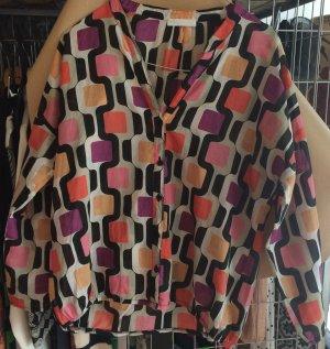 Promod 1970s Pattern Blouse