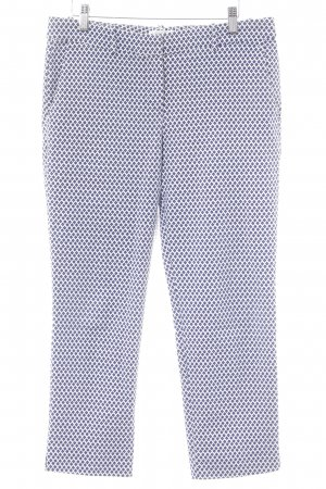 Promod 3/4-broek wit-donkerblauw abstract patroon casual uitstraling