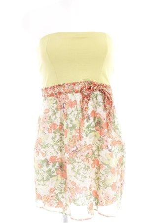Promod A-Linien Kleid Blumenmuster extravaganter Stil