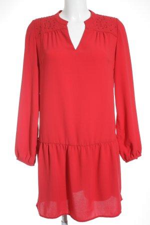 Promod A-Linien Kleid rot klassischer Stil